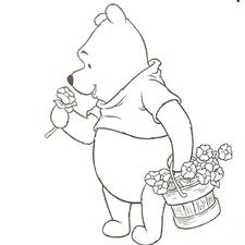 דפי צביעה פו הדוב