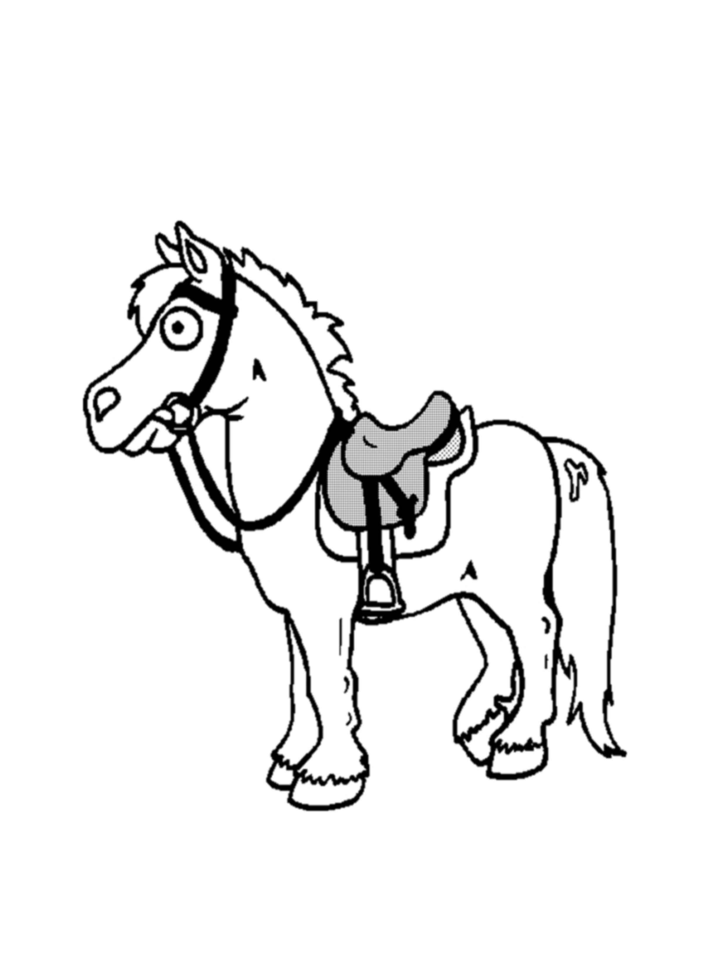 דף צביעה של סוס