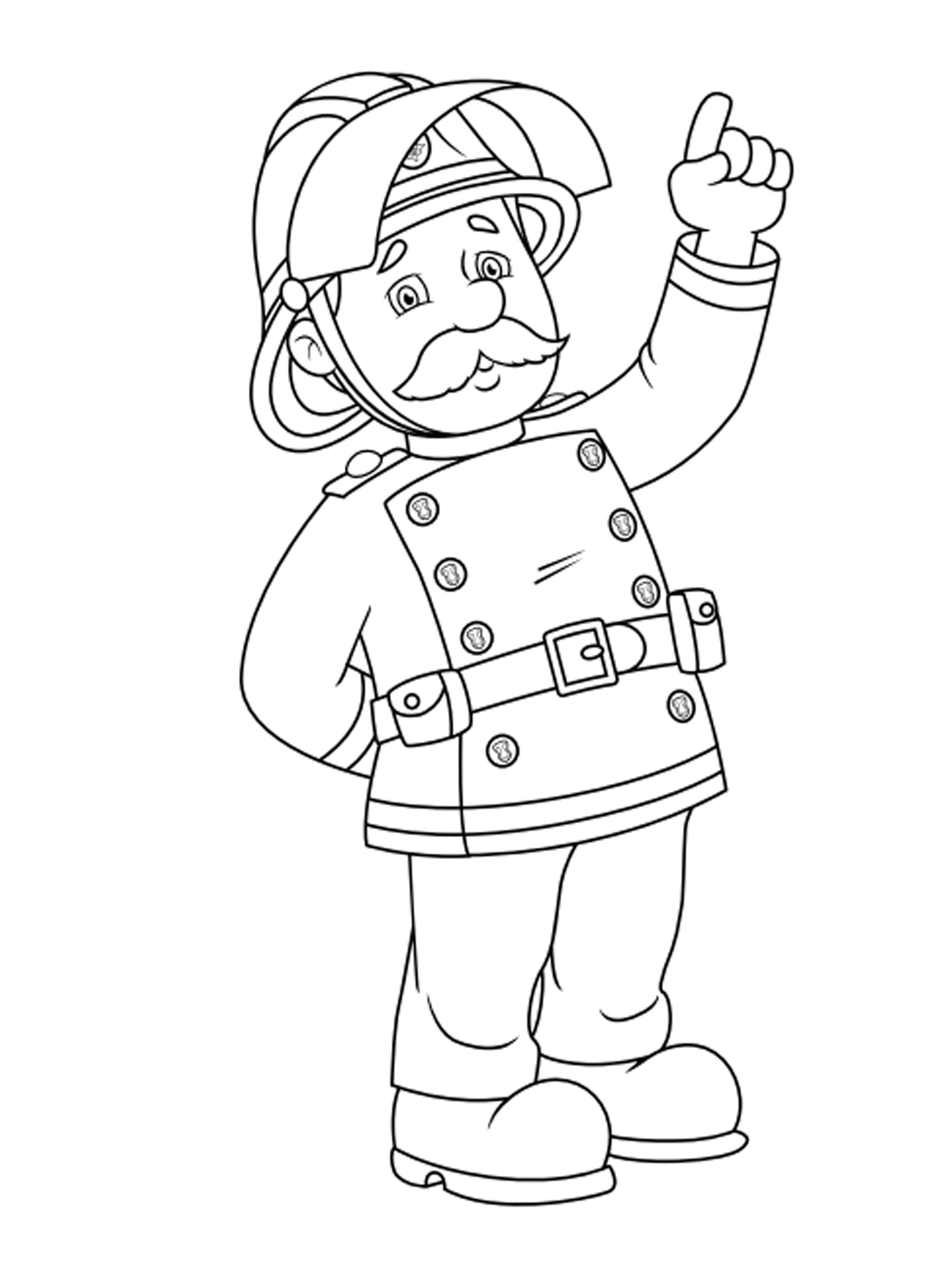 דף צביעה של המפקד של סמי הכבאי