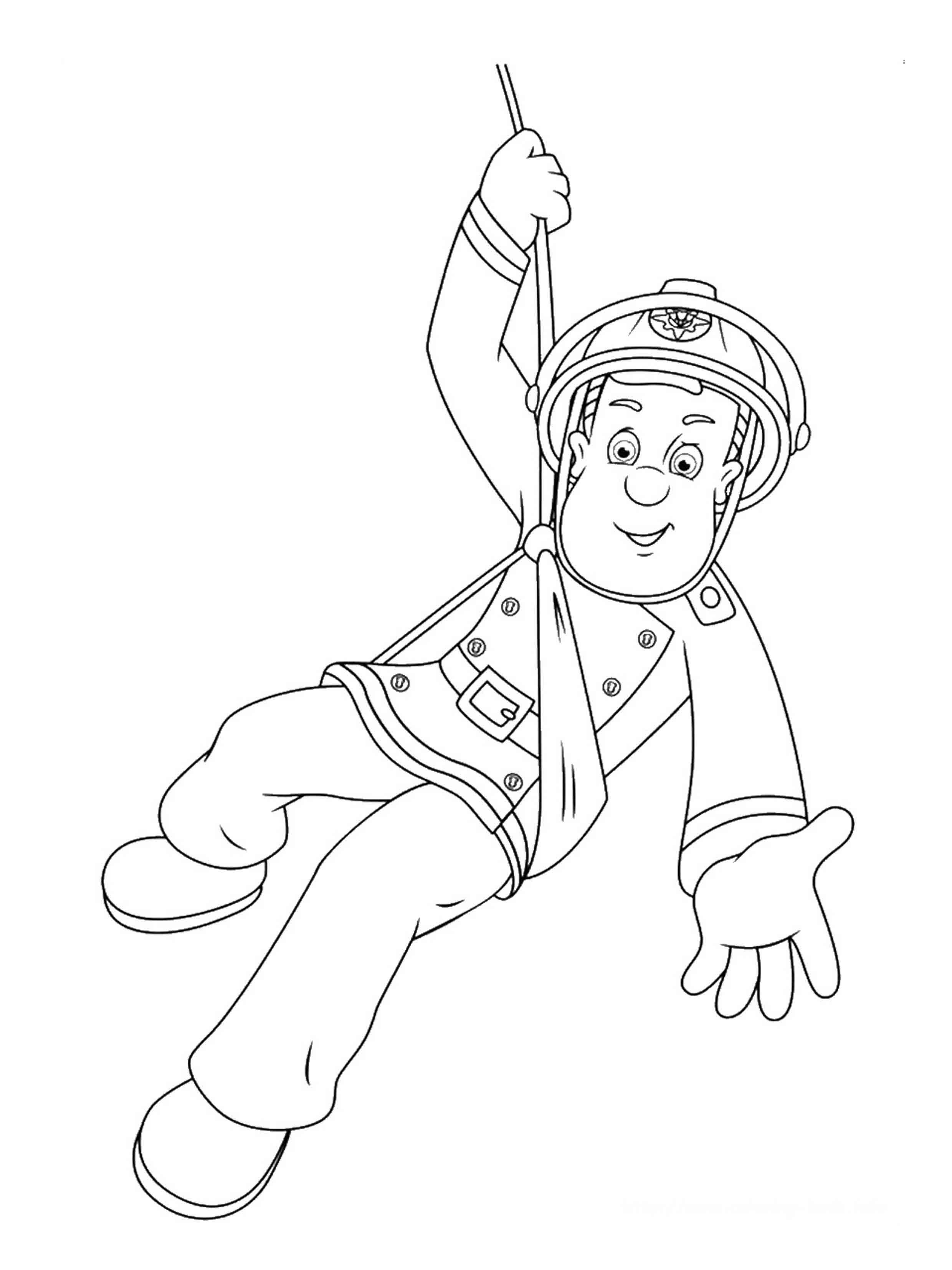 coloring book pages fireman - photo#38