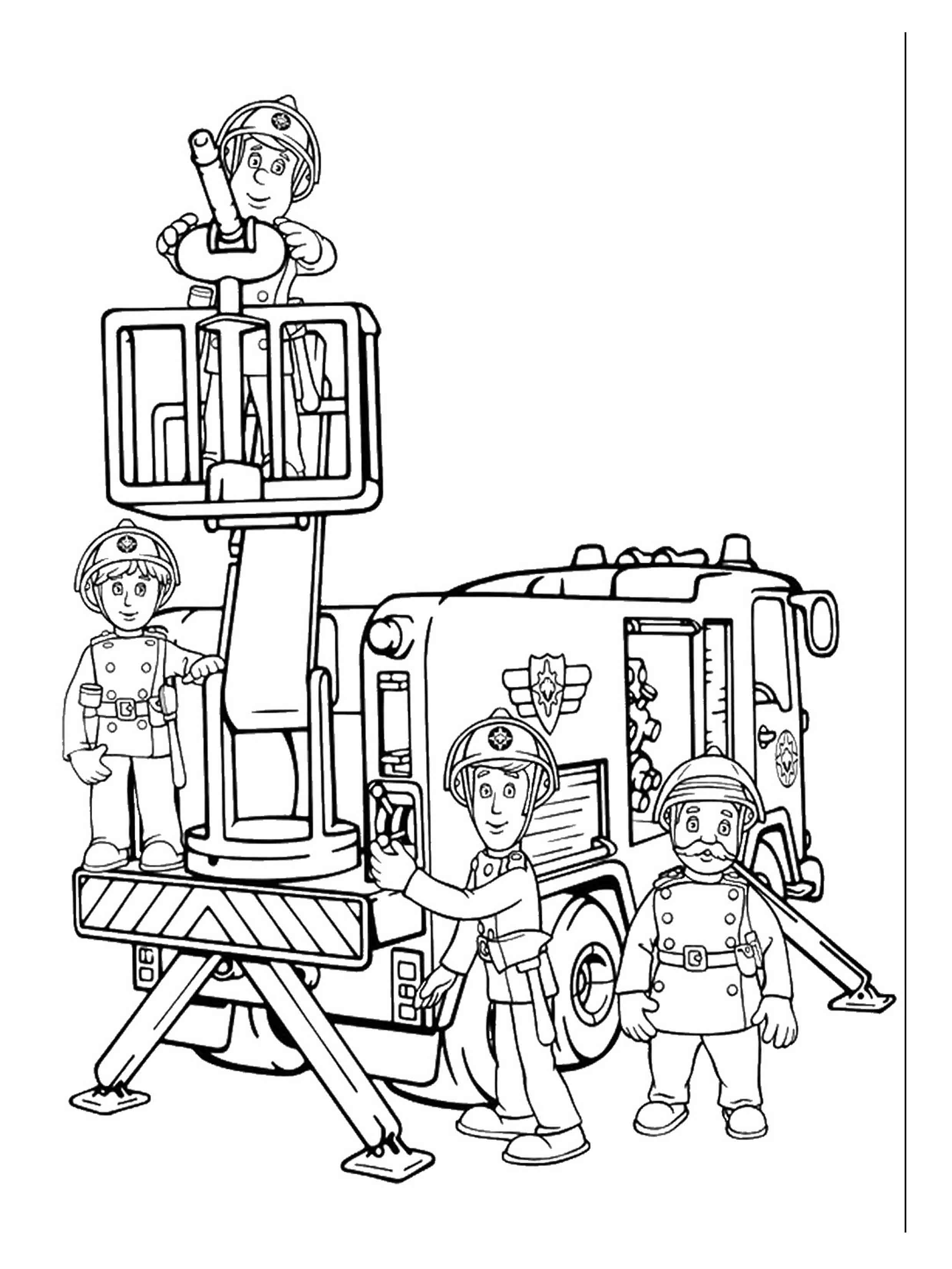coloring book pages fireman - photo#21