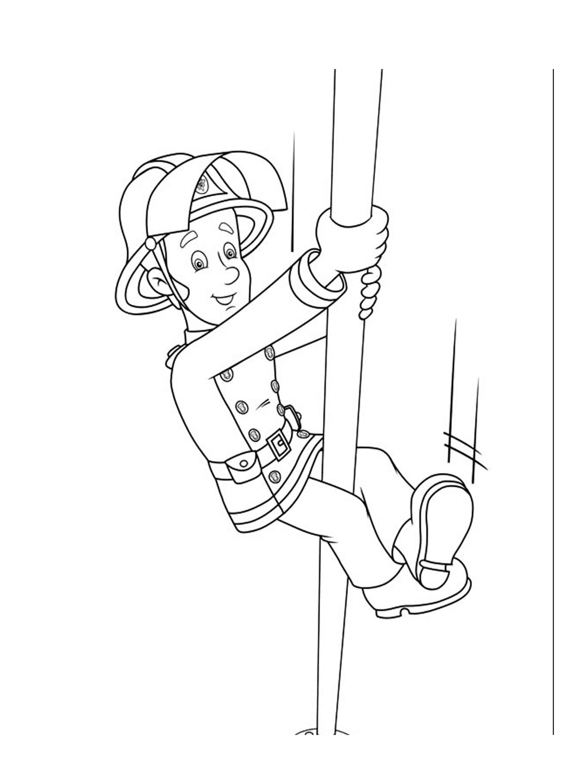 coloring book pages fireman - photo#24