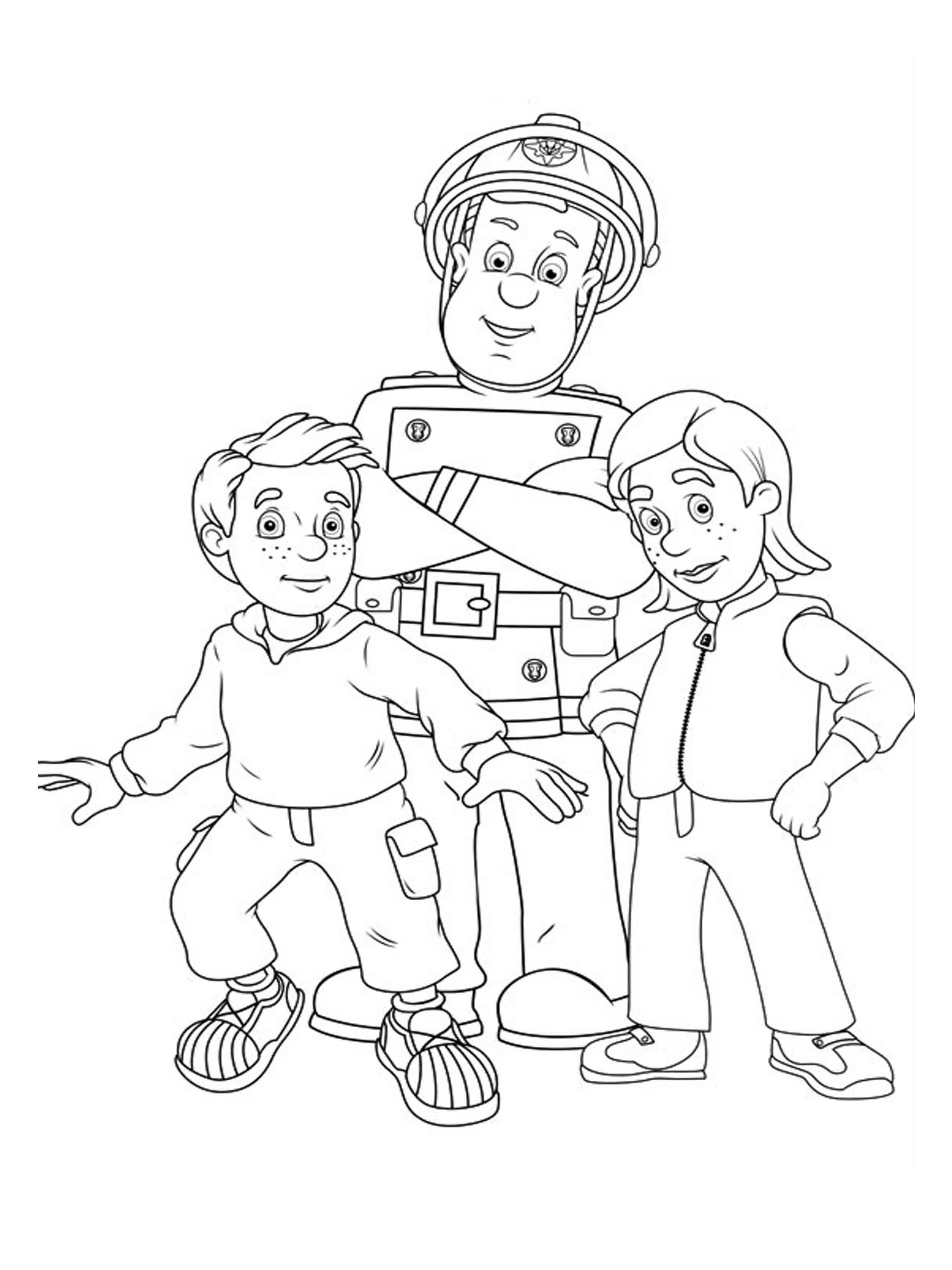 coloring book pages fireman - photo#42