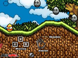 משחק פעולה משעשע - נקמת ביצי הפסחא