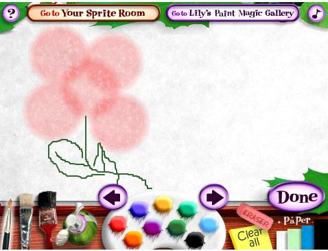 משחק צביעה יצירתי - צבעי הקסם של לילי