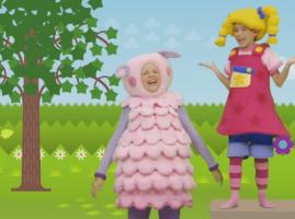"""""""החזרזיר הקטן הלך לשוק"""" שיר ילדים באנגלית"""