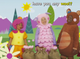 """""""כבשה בה בה בה"""" שיר ילדים באנגלית"""