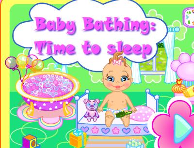 רחיצת תינוקת משחק בנות מתוק