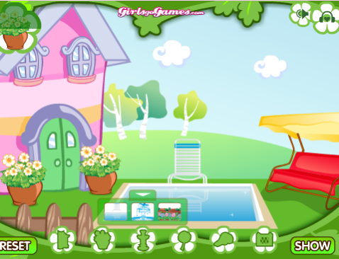 עיצוב גינה - משחקי בנות