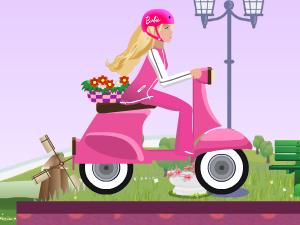 ברבי הפעלולנית והאופנוע הורוד