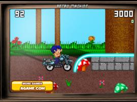 משחק מרוצים - מרוץ אופנוע נוסטלגי וחמוד (16ביט)