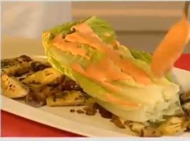 מתכון נפלא של השף שגב משה לסלט צמחי תבלין, ארטישוק ופלפל קלוי