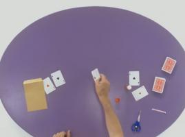 סוד הקסם - קסם עם מעטפה, חפיסת קלפים ואסים