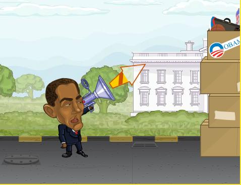 מלחמת הנשיאים - משחק יריות  מצחיק