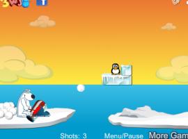 יריות על הפינגווין - משחק יריות משעשע