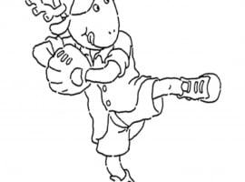 דמויות מהסדרה של ארתור לצביעה