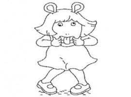 דף צביעה של גילי מהסדרה של ארתור