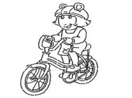 דף צביעה גילי רוכבת על אופניים