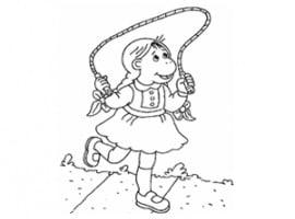 דף צביעה חברה של ארתור משחקת בחבל