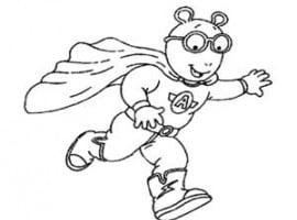 דף צביעה ארתור מתחפש לסופרמן