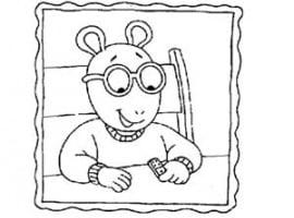 תמונה לצביעה של ארתור