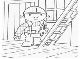 בוב הבנאי עולה על סולם