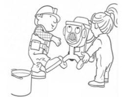 דף צביעה בוב הבנאי ווונדי בונים