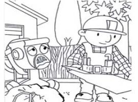 דפי צביעה לילדים של בוב הבנאי