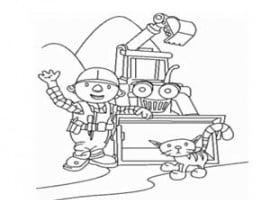 תמונה לצביעה ולהדפסה של בוב הבנאי