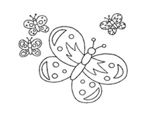 דפי צביעה של פרפרים