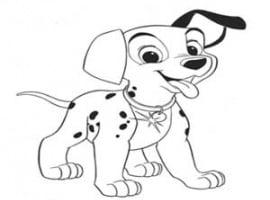 דף צביעה של כלב