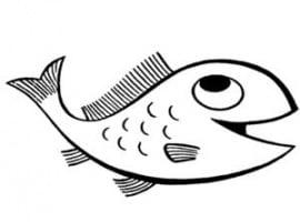 דף צביעה של דג