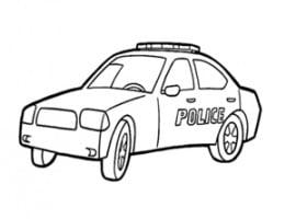 תמונה צביעה של רכב משטרה