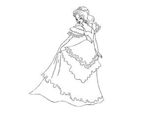 דף צביעה נסיכות