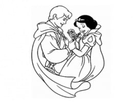 דף צביעה נסיכה ונסיך