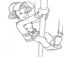 דף צביעה של סמי הכבאי בפעולה