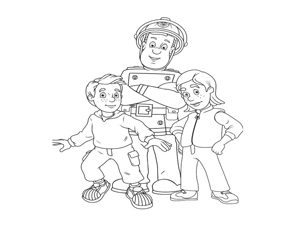דף יצירה של סמי הכבאי מציל את הילדים