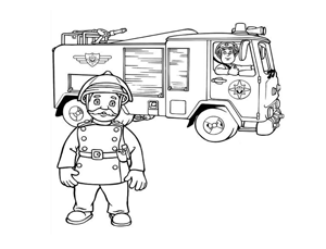 סמי הכבאי ומשאית של תחנת הכיבוי