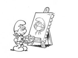 דף צביעה של דרדס רגזני מצייר ציור