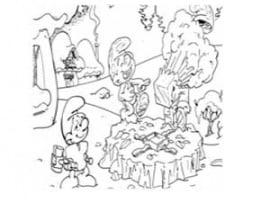 דפי צביעה הדרדסים עושים מסיבה