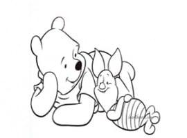 דפי צביעה של פו הדוב עם חזרזיר מהסרט של פו הדוב