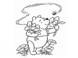 דף יצירה וצביעה של פו הדוב