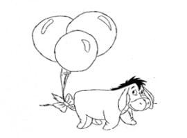 דף צביעה של החמור מפו הדוב