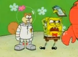 בוב ספוג משחק בים