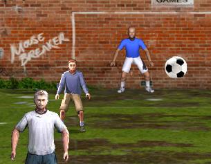 משחק ספורט בעיטות כדורגל