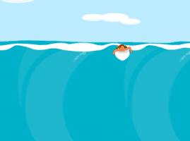 גלישה על גלים משחקי ילדים