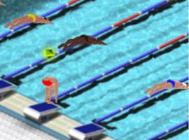 משחקי ספורט תחרות שחייה בבריכה אולימפית